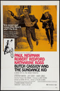 """Movie Posters:Western, Butch Cassidy and the Sundance Kid (20th Century Fox, 1969). OneSheet (27"""" X 41""""). Style B. Western.. ..."""
