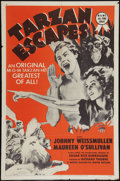 "Movie Posters:Adventure, Tarzan Escapes (MGM, R-1954). One Sheet (27"" X 41""). Adventure....."