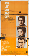 "Movie Posters:Drama, Giant (Warner Brothers, R-1963). Three Sheet (41"" X 81""). Drama....."