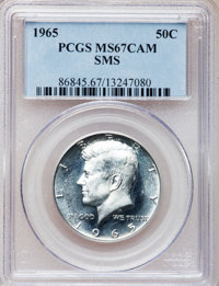 1965 50C SMS MS67 Cameo PCGS. PCGS Population (138/4). NGC Census: (167/24). Numismedia Wsl. Price for problem free NGC/...