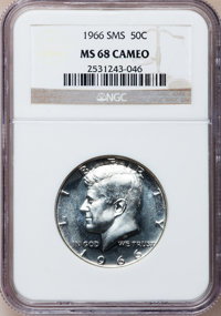 1966 50C SMS MS68 Cameo NGC. NGC Census: (49/3). PCGS Population (11/0). Numismedia Wsl. Price for problem free NGC/PCGS...