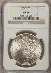 1882-S $1 MS66 NCS. NGC Census: (5609/1589). PCGS Population (4277/666). Mintage: 9,250,000. Numismedia Wsl. Price for p...