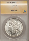 1893 $1 MS63 ANACS. NGC Census: (593/733). PCGS Population (1143/1299). Mintage: 389,792. Numismedia Wsl. Price for prob...