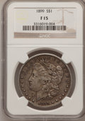 Morgan Dollars: , 1899 $1 Fine 15 NGC. NGC Census: (3/7010). PCGS Population(7/9860). Mintage: 330,846. Numismedia Wsl. Price for problem fr...