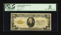 Small Size:Gold Certificates, Fr. 2402* $20 1928 Gold Certificate Star. PCGS Apparent Fine 15.. ...