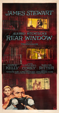 "Movie Posters:Hitchcock, Rear Window (Paramount, 1954). Three Sheet (41"" X 81"").. ..."