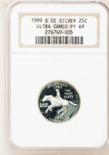 Proof Statehood Quarters, 1999-S 25C Silver Pennsylvania PR69 Ultra Cameo NGC. This SetIncludes: (2) 1999-S 25C Silver Pennsylvania PR69 Ultra Ca...(Total: 10 coins)