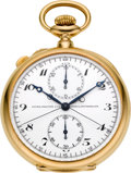 Timepieces:Pocket (post 1900), Patek Philippe & Cie. Exceptional 18k Gold Split Seconds Chronograph With Instantaneous 30-Minute Register, circa 1907. ...