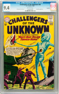 Silver Age (1956-1969):Science Fiction, Challengers of the Unknown #30 Savannah pedigree (DC, 1963) CGC NM9.4 Off-white pages....