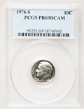 Proof Roosevelt Dimes: , 1976-S 10C PR69 Deep Cameo PCGS. PCGS Population (4266/67).Numismedia Wsl. Price for problem free NGC/...