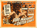 "Movie Posters:Science Fiction, Fire Maidens of Outer Space (Topaz, 1956). Half Sheet (22"" X 28"")....."