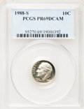 Proof Roosevelt Dimes: , 1988-S 10C PR69 Deep Cameo PCGS. PCGS Population (2005/94). NGCCensus: (252/56). Numismedia Wsl. Price for problem free N...