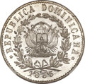 Dominican Rep., Dominican Rep.: Republic silver-plated Copper Pattern 10 Reales 1855,...