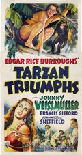"Movie Posters:Adventure, Tarzan Triumphs (RKO, 1943). Three Sheet (41"" X 81"").. ..."