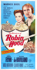 """Movie Posters:Swashbuckler, The Adventures of Robin Hood (Warner Brothers, R-1948). Three Sheet (41"""" X 81"""").. ..."""
