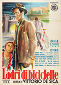 "Movie Posters:Foreign, The Bicycle Thief (Ente Nazionale Industrie Cinematografiche (ENIC), R-1952). Italian 2 - Foglio (39"" X 55"").. ..."