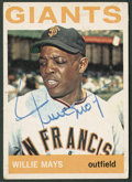 Autographs:Sports Cards, 1964 Topps Willie Mays Signed Card #150....