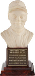 Baseball Collectibles:Others, 1963 Lou Gehrig Mini Hall of Fame Bust. ...
