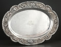 Silver Holloware, American:Trays, AN AMERICAN SILVER OVAL TRAY . Samuel Kirk & Son Co.,Baltimore, Maryland, circa 1880. Marks: S. KIRK & SON CO.,925/1000,...