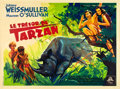 "Movie Posters:Adventure, Tarzan's Secret Treasure (MGM, 1940s). First Post-War ReleaseHorizontal French Grande (63"" X 47"").. ..."