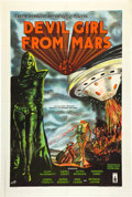 "Movie Posters:Science Fiction, Devil Girl From Mars (Spartan, 1955). British One Sheet (27"" X 40"").. ..."