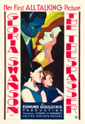 "Movie Posters:Drama, The Trespasser (United Artists, 1929). One Sheet (27"" X 41"").. ..."