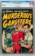 Golden Age (1938-1955):Crime, Murderous Gangsters #1 (Avon, 1951) CGC FN+ 6.5 Off-white to white pages....