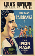 "Movie Posters:Adventure, The Iron Mask (United Artists, 1929). Window Card (14"" X 22"").. ..."