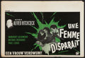 """Movie Posters:Hitchcock, The Lady Vanishes (Rank, R-1950s). Belgian (14.25"""" X 21""""). Hitchcock.. ..."""