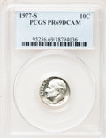 Proof Roosevelt Dimes: , 1977-S 10C PR69 Deep Cameo PCGS. PCGS Population (3801/178). NGCCensus: (230/20). Numismedia Wsl. Price for problem free ...