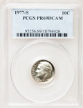 Proof Roosevelt Dimes: , 1977-S 10C PR69 Deep Cameo PCGS. PCGS Population (3815/178). NGCCensus: (231/20). Numismedia Wsl. Price for problem free ...