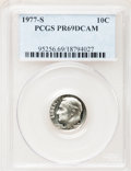 Proof Roosevelt Dimes: , 1977-S 10C PR69 Deep Cameo PCGS. PCGS Population (3867/183). NGCCensus: (231/20). Numismedia Wsl. Price for problem free ...