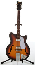 Musical Instruments:Electric Guitars, 1970s Greco Musician Sunburst Archtop Electric Guitar....