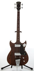 Musical Instruments:Bass Guitars, 1960s Grego GHB-2 Rosewood Electric Bass Guitar....
