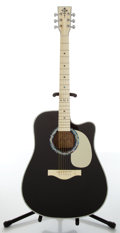 Musical Instruments:Acoustic Guitars, 2000s Esteban VL-100 Vintage Legacy Black Acoustic Electric Guitar....