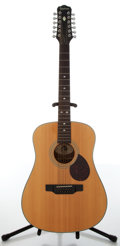 Musical Instruments:Acoustic Guitars, 1991 Epiphone Model PR-350-12 Natural Acoustic 12-String Guitar,#1082268....