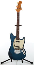 Musical Instruments:Electric Guitars, 1965 Fender Mustang Blue Electric Guitar, #L86017....