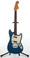 Musical Instruments:Electric Guitars, 1965 Fender Mustang Blue Electric Guitar, #101704....