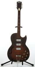 Musical Instruments:Electric Guitars, 1950s Truetone Dark Sunburst Electric Guitar....