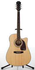 Musical Instruments:Acoustic Guitars, 2004 Epiphone Model DR 200C NA Natural Acoustic Guitar,#EA04023791....