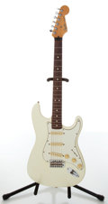 Musical Instruments:Electric Guitars, 1990s Fender Stratocaster Standard White Electric Guitar, #MN016472. ...