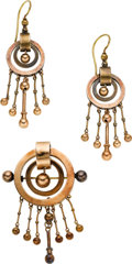 Estate Jewelry:Suites, Victorian Gold Jewelry Suite. ... (Total: 3 Items)