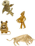 Estate Jewelry:Brooches - Pins, Diamond, Ruby, Sapphire, Gold Brooches. ...
