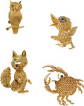 Estate Jewelry:Brooches - Pins, Ruby, Sapphire, Emerald, Diamond, Gold Brooches. ...