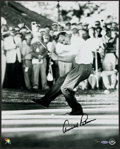 "Golf Collectibles:Autographs, Arnold Palmer Signed ""Upper Deck Authenticated"" OversizedPhotograph. ..."