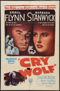 "Movie Posters:Mystery, Cry Wolf (Warner Brothers, 1947). One Sheet (27"" X 41""). Mystery.. ..."