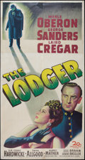 "Movie Posters:Horror, The Lodger (20th Century Fox, 1944). Three Sheet (41"" X 81"").Horror.. ..."