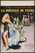 """Movie Posters:Foreign, La Dolce Vita (Consortium Pathe, 1960). French Petite (15.5"""" X 23.5""""). Foreign.. ..."""