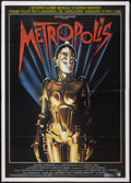 "Movie Posters:Science Fiction, Metropolis (Film 2, R-1984). Italian 2 - Foglio (39"" X 55"").Science Fiction.. ..."