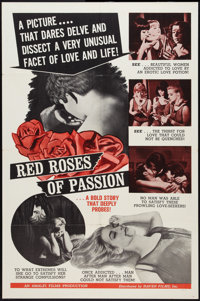 "Red Roses of Passion Lot (Haven International Pictures, 1966). One Sheets (2) (27"" X 41""). Sexploitation..."